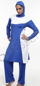 white accent Islamic clothing