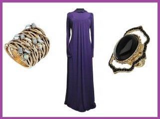 abaya with fashion rings