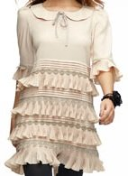 beige tier tunic dress