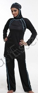 black accent Islamic swimsuit