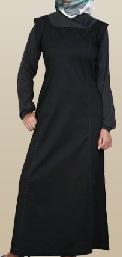 black casual jilbab
