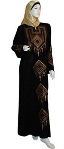 brown-embroidered-thoub-kaftan