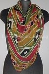 butterfly hijab abstract print