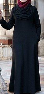 cowl neck abaya