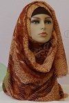 East Eastern brown shayla silk hijab