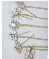 stylish gold diamante hijab pin with chain