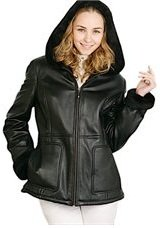 lambskin parka leather coat