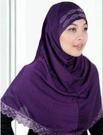 purple amira hijab