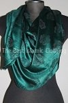 shawl dark green imprint