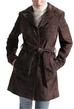 suede leather trench coat