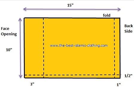 Tube underscarf pattern diagram 02