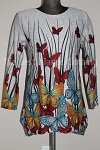 tunic butterfly print