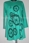 tunic green floral