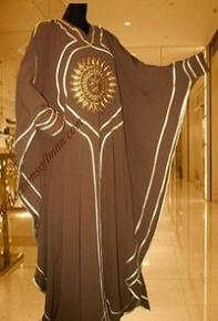 Brown Farasha Butterfly Abaya