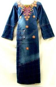 Lovely Denim Girl Abaya