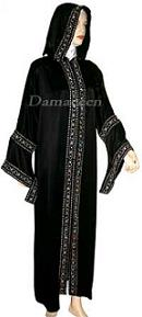 Hooded Satin Abaya