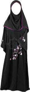Girls' Purple Blossoms Abaya