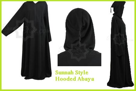 Sunnah Style Hooded Abaya