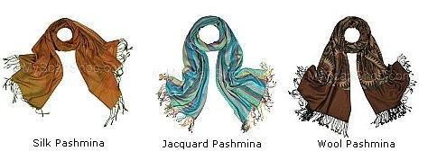 types of pashmina