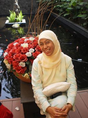 with creamy jilbab