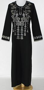 Girls Floral Embroidered Abaya