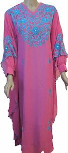 Pink Butterfly Abaya